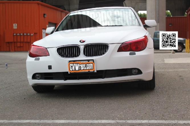 Matte White Wrap for BMW