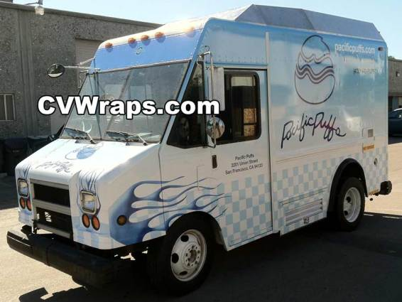 Food Truck Wrap - Pacific Puffs