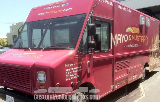 Mayo and Mustard Food Truck Wrap