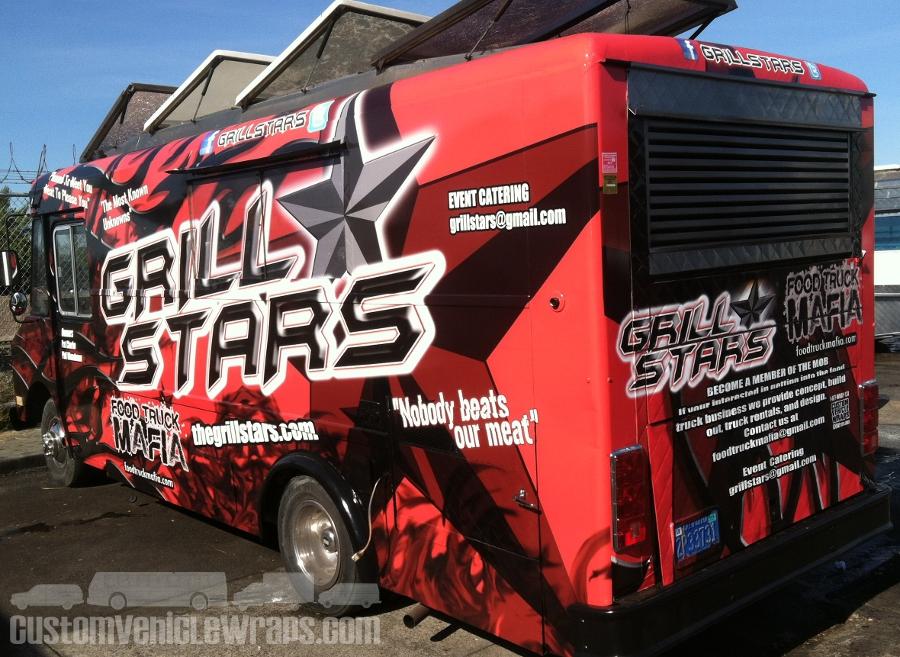 Grill Stars Food Truck Wrap