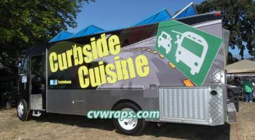 Curbside Cuisine Food Truck Wrap