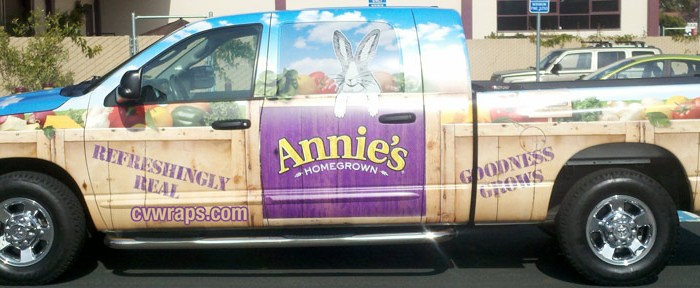 Annie's Homegrown Food Truck wrap