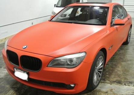 Orange BMW Diagonal Left