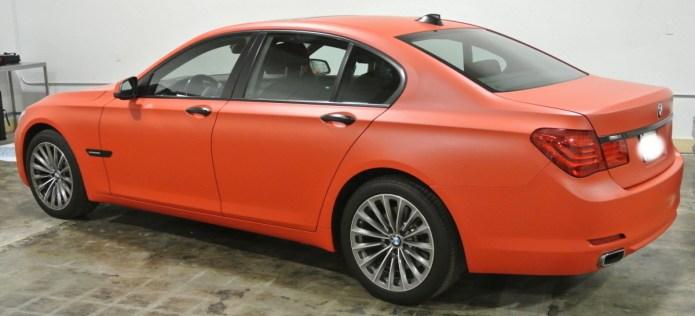 Orange BMW Profile Left