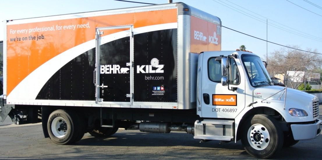 behr truck wrap