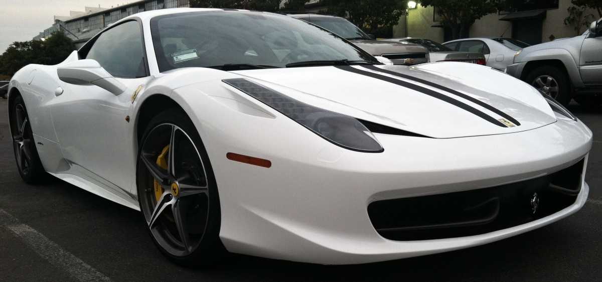 Ferrari White Wrap Front