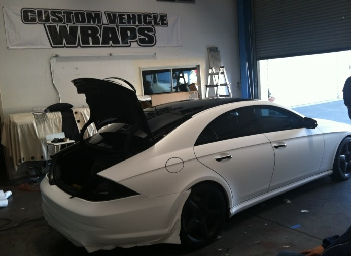 Mercedes Getting Wrapped