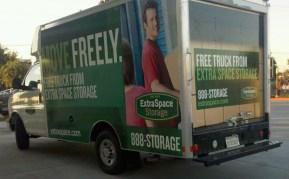 extraspace box truck wrap