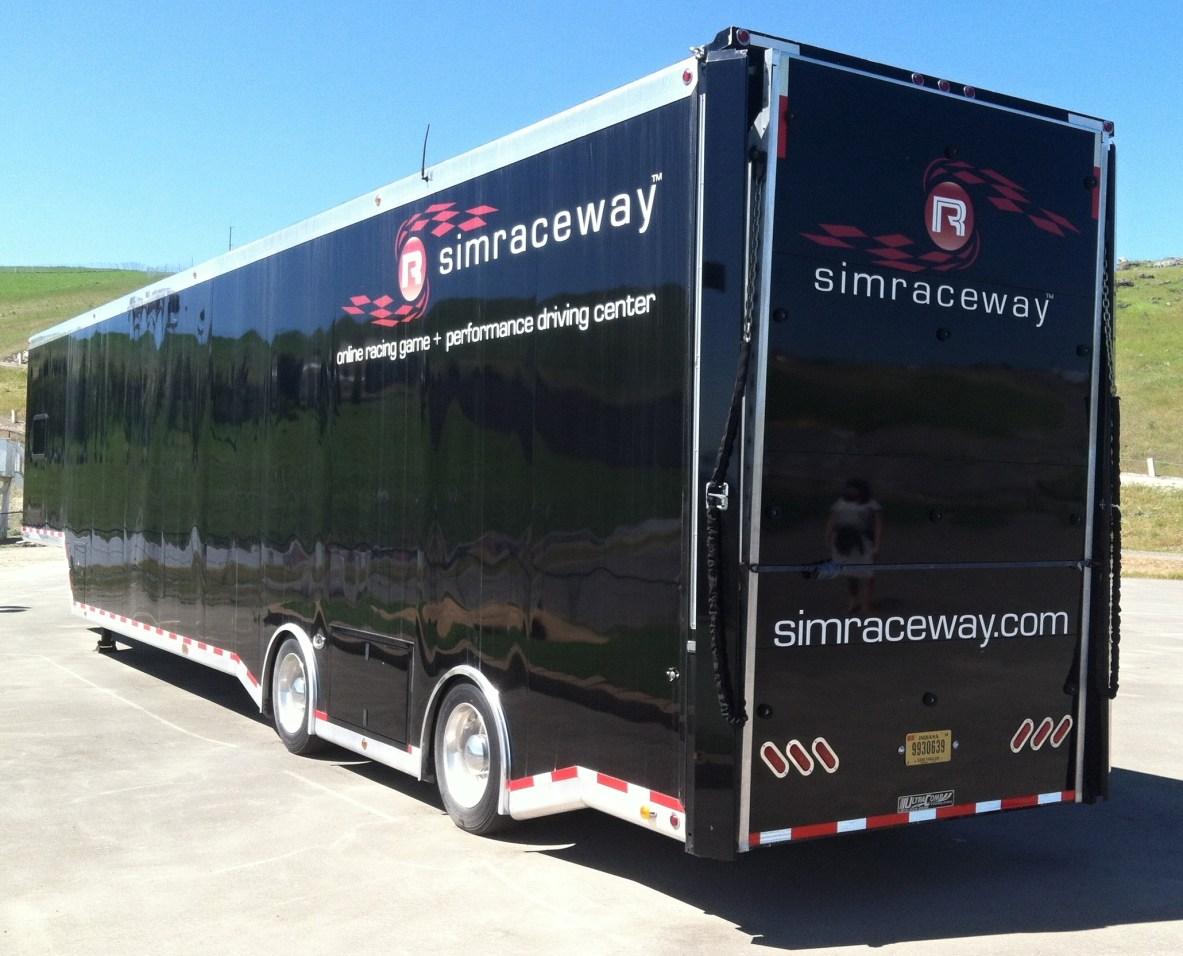 simraceway bus wrap reflection