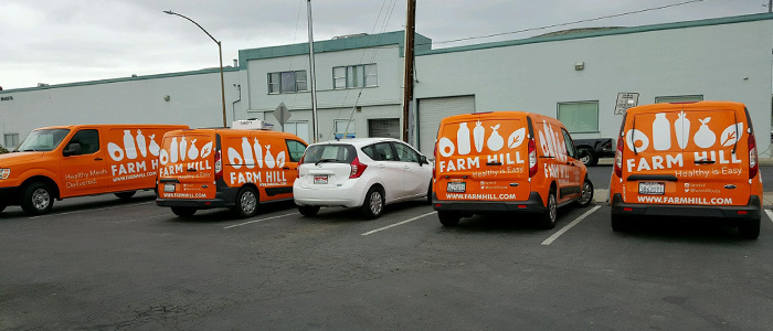 Fleet Wrap for Farm Hill Delivery Vehicles