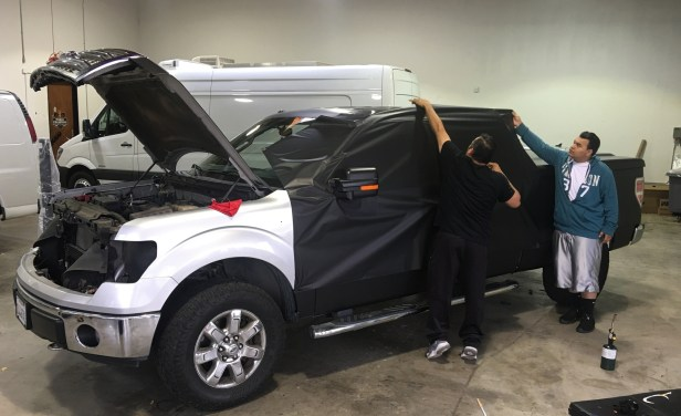 2017 F150 Colors >> Ford F-150 Matte Black Truck Wrap – Custom Vehicle Wraps