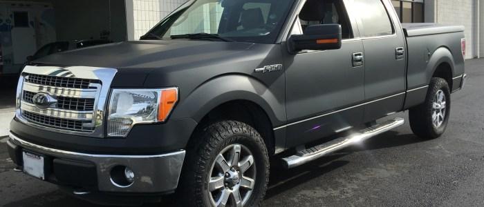 Ford F-150 Matte Black Truck Wrap