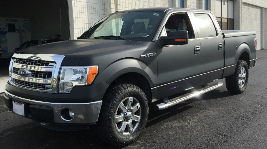 2017 Ford Truck Colors >> Ford F-150 Matte Black Truck Wrap – Custom Vehicle Wraps
