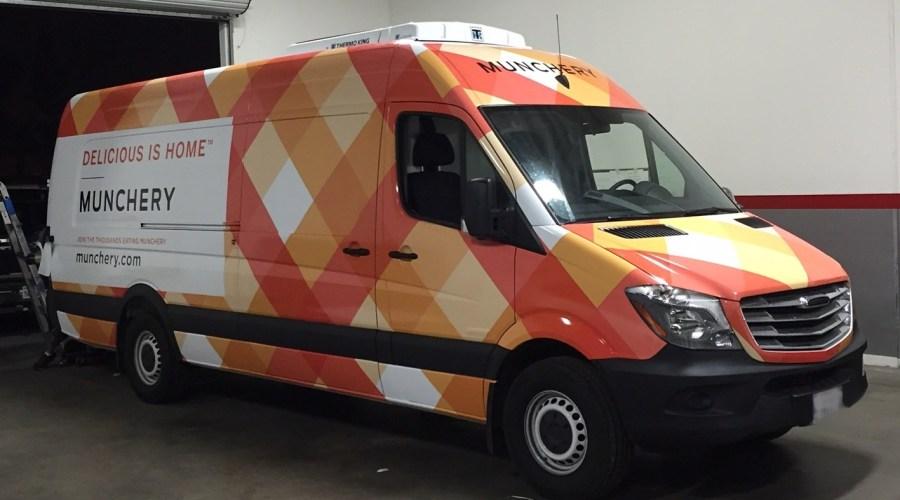 Munchery Van Wrap