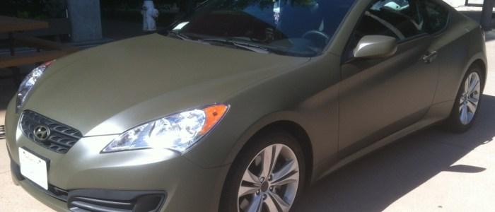 Matte Green Hyundai Car Wrap