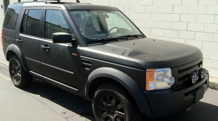Matte Black Land Rover Wrap