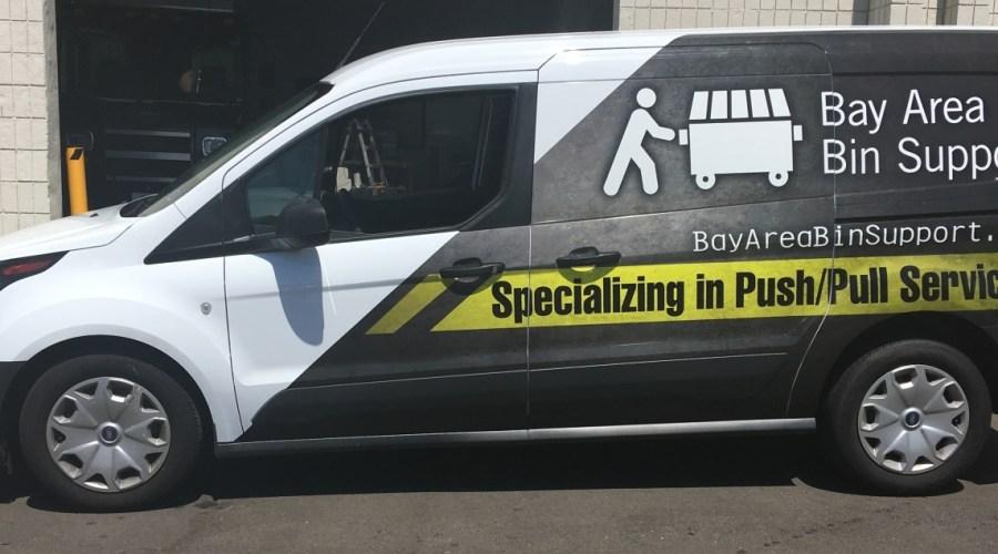 Van Wrap for Bay Area Bin Support