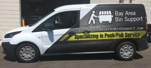 van vehicle graphic side