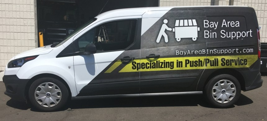 van vehicle graphic side