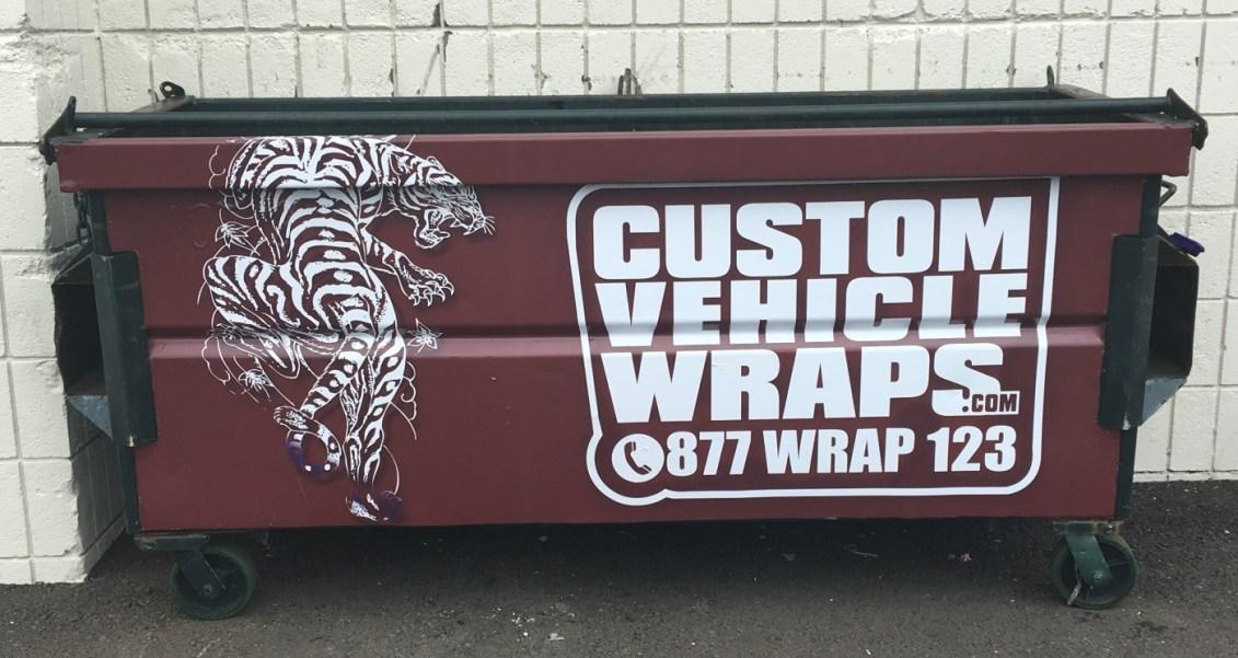 wrapped bin
