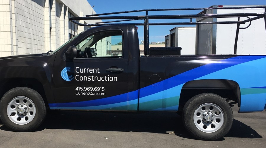 Current Construction Truck Wrap