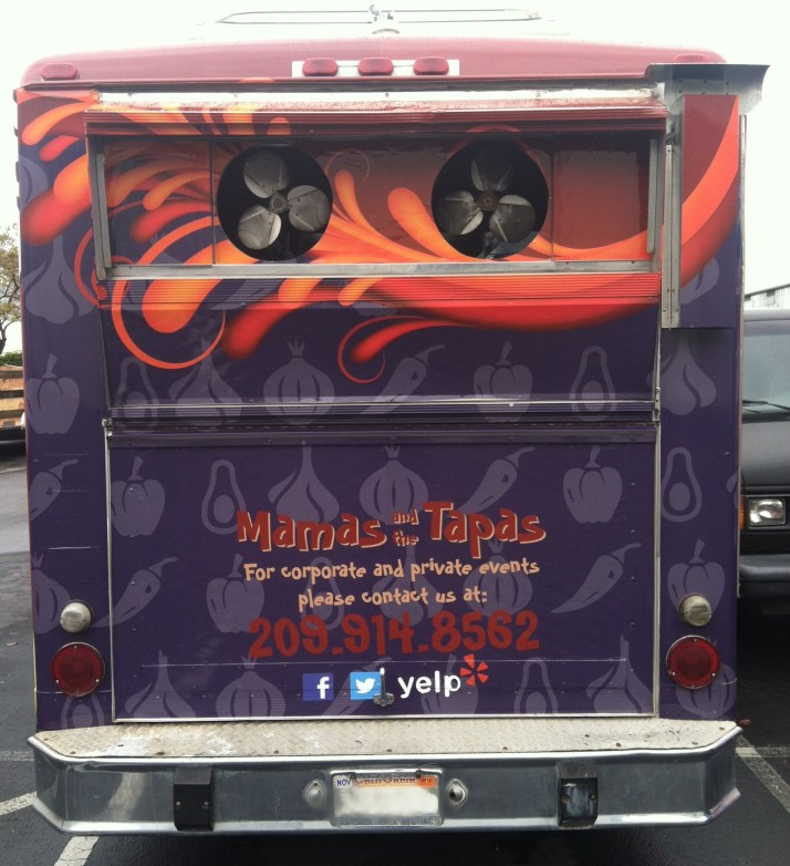 mamas tapas food truck wrap