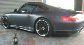 porsche matte black car wrap-02