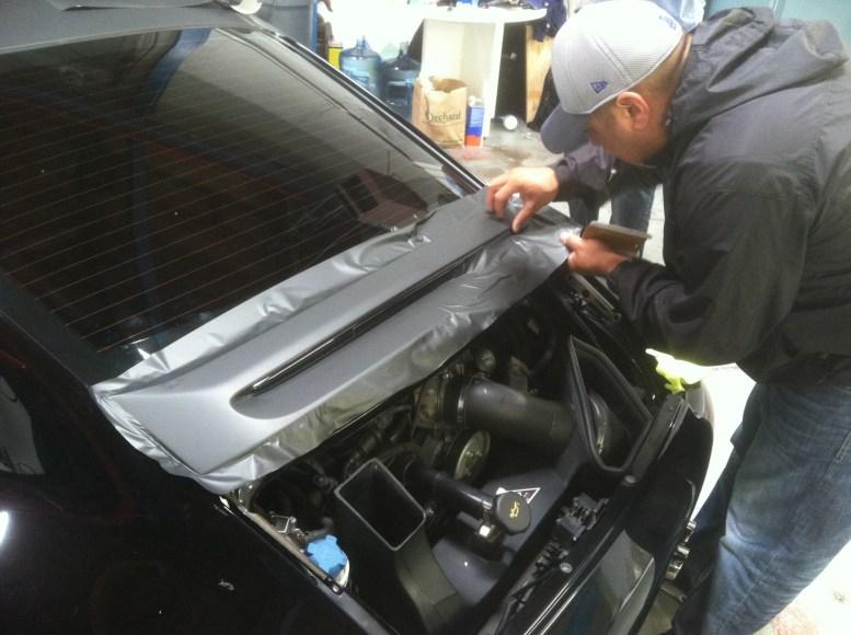 porsche matte black car wrapping-01