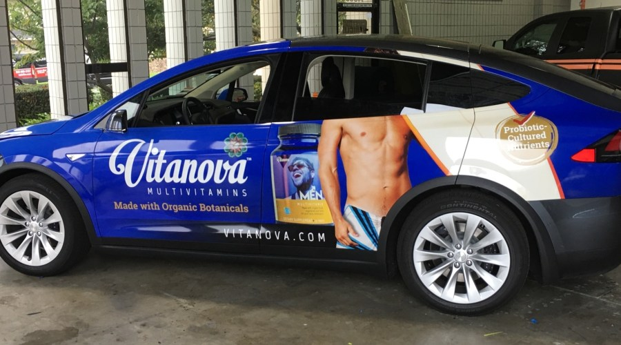 Vitanova Multivitamins Tesla Car Wrap