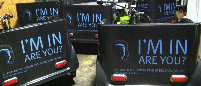 Bike Cart Wraps promoting Dell EMC