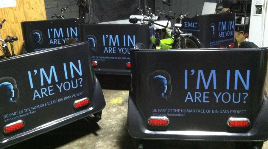 Bike Cart Wraps promoting Dell EMC