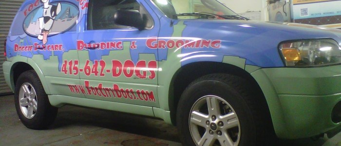 Suv Wrap for Fog City Grooming