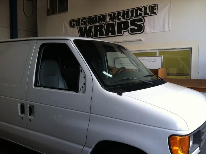 matte black van pre wrap