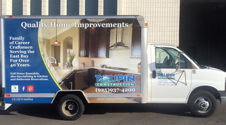 Toupin Construction Box Truck Wrap