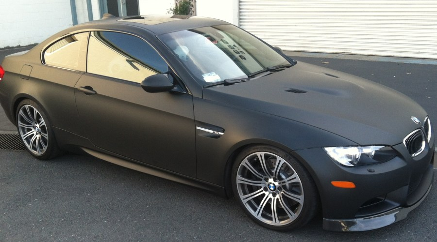 Matte Black Wrap for Silver BMW