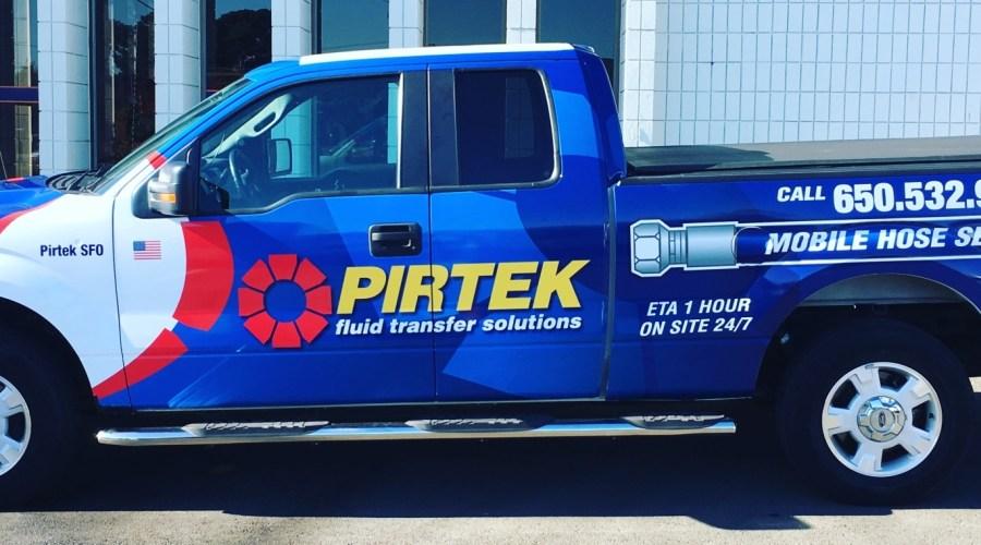Pirtek Truck Wrap