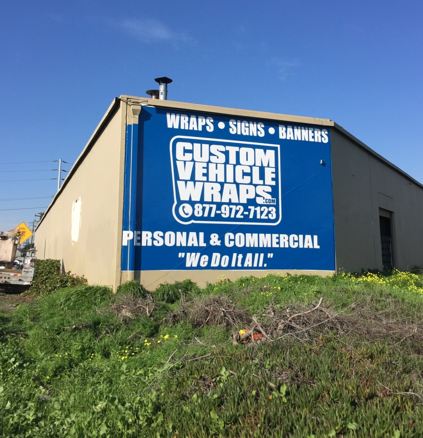 Custom Vehicle Wraps Large Wall Sign