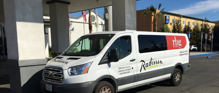 Signage and Car Wrap for Radisson Hotel