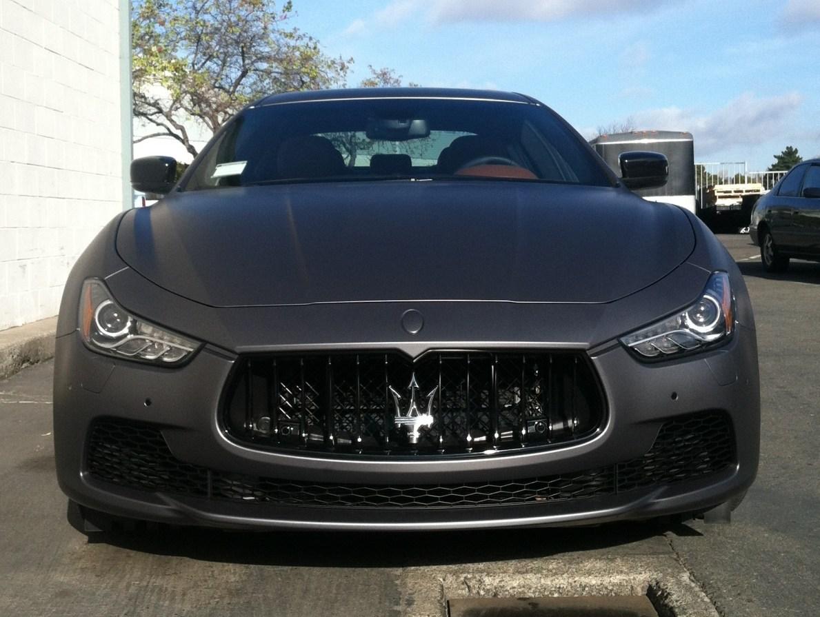 Matte Grey Maserati Car Wrap Custom Vehicle Wraps