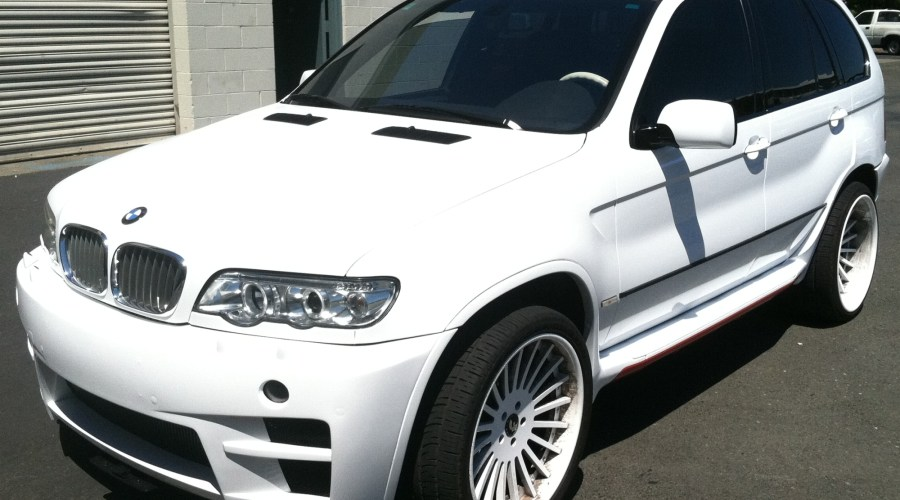 Color Change for BMW Suv (Red to White)