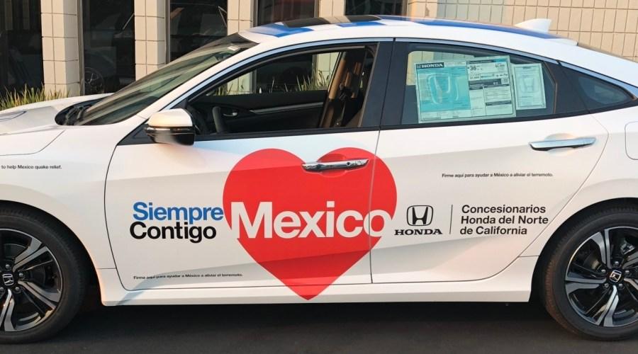 Car Wrap for Honda's Siempre Contigo 2017 Campaign