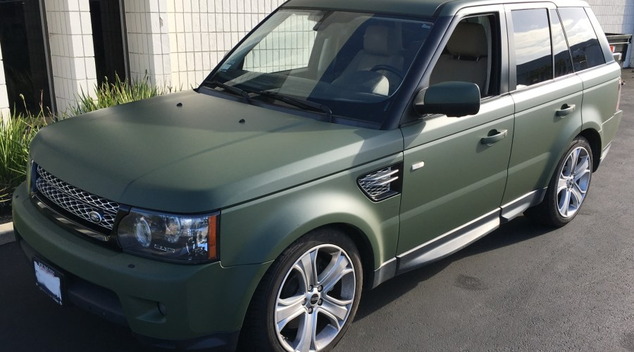 Matte Green Color Change for Land Rover