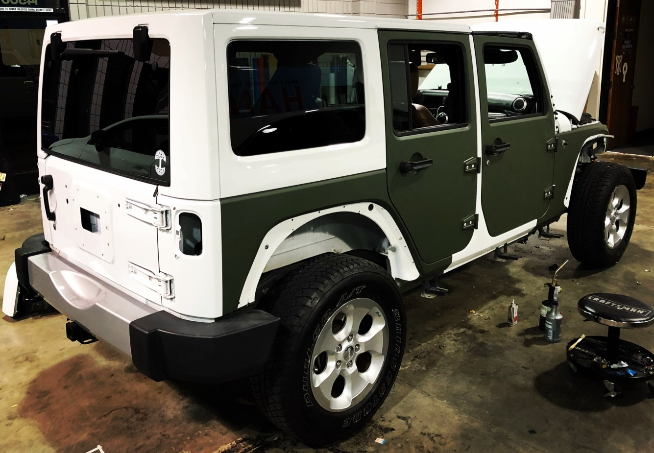military green matte wrap jeep-05