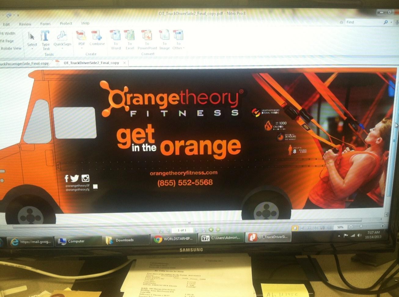 Orange Theory Fitness Car Wrap-01