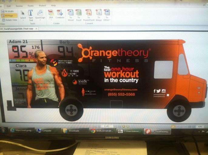 Orange Theory Fitness Car Wrap