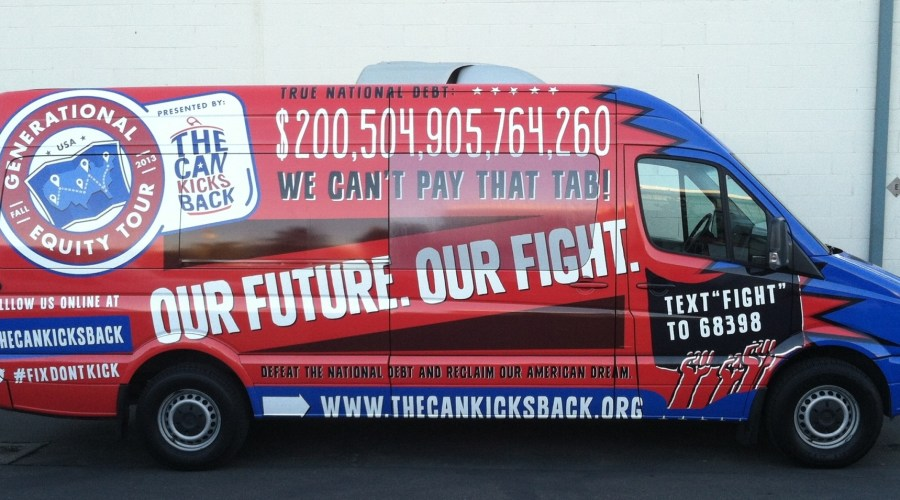 The Can Kicks Back Van Wrap