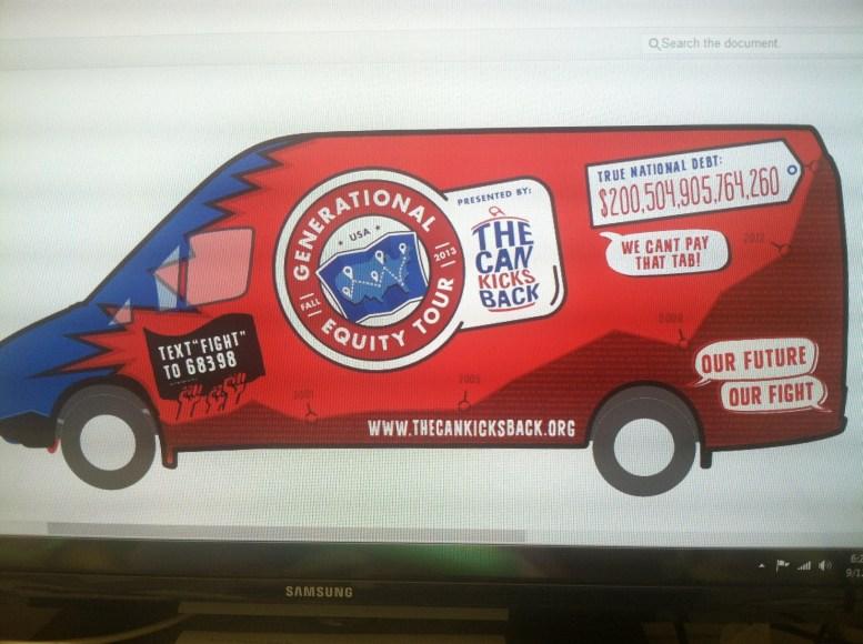 The Can Kicks Back Van Wrap