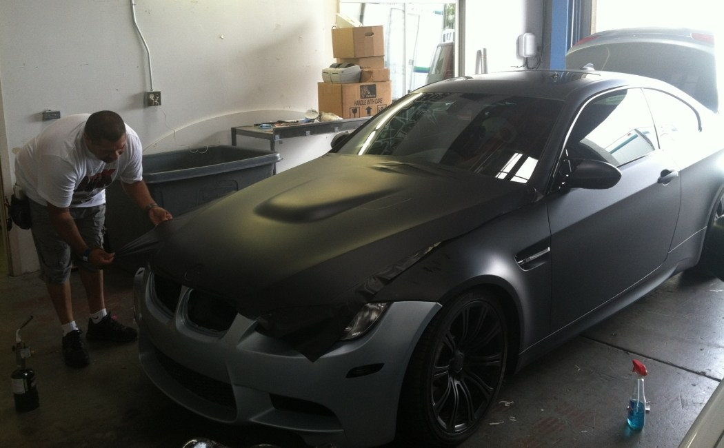 bmw color change silver to matte black-07