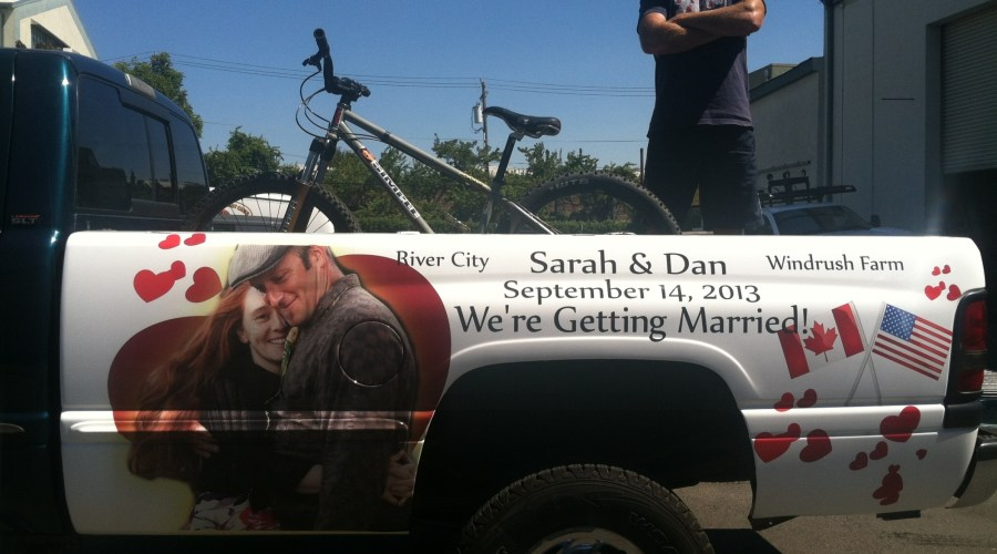 Truck Wrap for Wedding Promotion