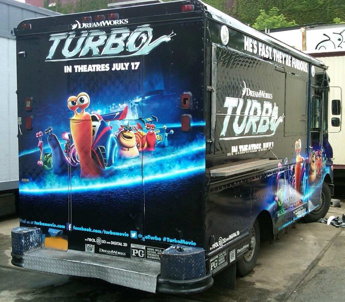 Dreamworks Turbo Van Wrap